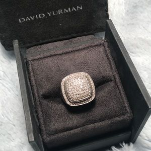 Rare David Yurman Albion 15mm diamond Ring